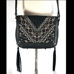 Montana West Black Leather Crossbody!